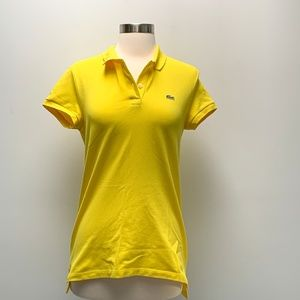 ⭐️Lacoste Izod womens tennis Polo Shirt yellow 38